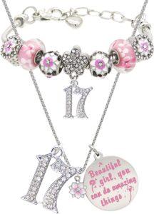 17th Birthday Cherry Blossom Dandelion Jewelry