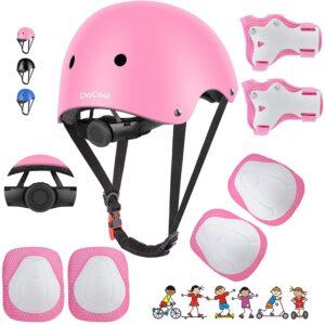 Bike Helmet Set Skateboard Knee Pads