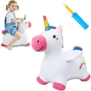 Bouncy Pals Unicorn Hopping Horse Plush