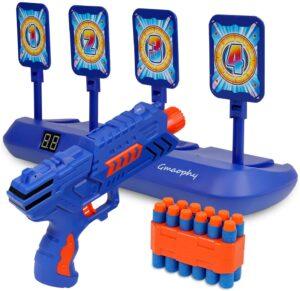 Digital Shooting Targets with Foam Dart Toy Shooting Blaster