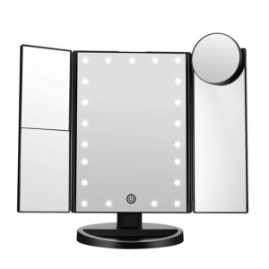 FASCINATE Trifold Led Lighted Makeup Mirror