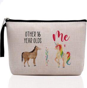 Me Unicorn-Sweet Sixteen Gifts For Teen Girls Cute Makeup Bag