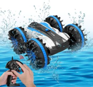 Seckton Toys for 6-10 Year Old Boys Amphibious RC Car for Kids 2.4 GHz Remote Control Boat Waterproof