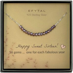 Sterling Silver Sweet 16 Necklace for 16-Year-Old Girl