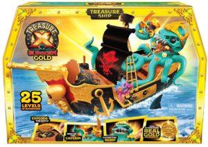 Treasure X Sunken Gold Treasure Ship Playset - 25 Levels of Adventure
