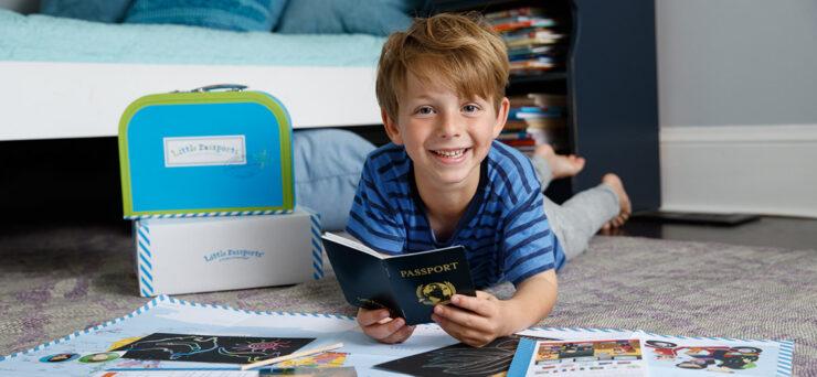 Little Passports Boy Reading a book