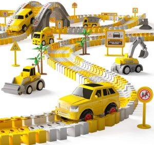 iHaHa 236PCS Construction Race Tracks